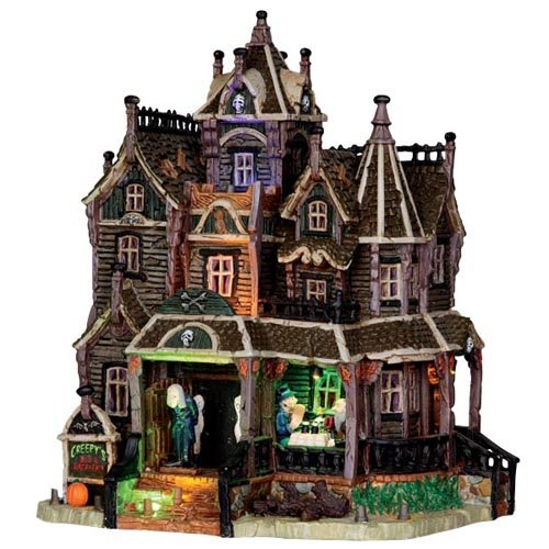 Lemax-35550-Creepys-Bed-Breakfast-Spooky-Town-Building-Village-Halloween-Decor-S-O-Scale-0