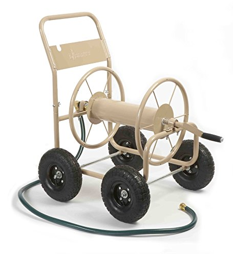 Liberty-Garden-Products-870-M1-2-Industrial-300-4-Wheel-Garden-Hose-Reel-Cart-Tan-0