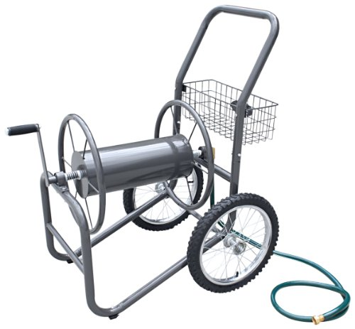 Liberty-Garden-Products-880-2-Industrial-2-Wheel-Pneumatic-Tires-Garden-Hose-Reel-Cart-Bronze-0-0