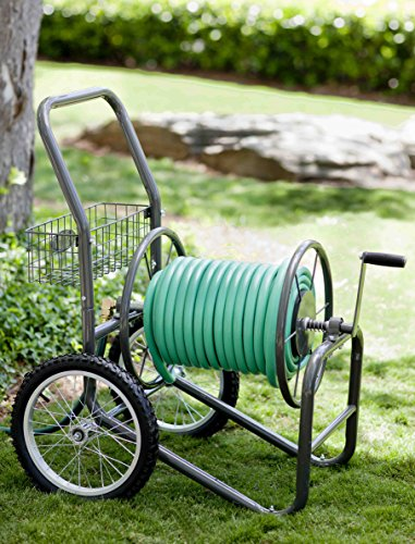 Liberty-Garden-Products-880-2-Industrial-2-Wheel-Pneumatic-Tires-Garden-Hose-Reel-Cart-Bronze-0-1