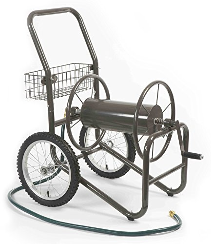 Liberty-Garden-Products-880-2-Industrial-2-Wheel-Pneumatic-Tires-Garden-Hose-Reel-Cart-Bronze-0