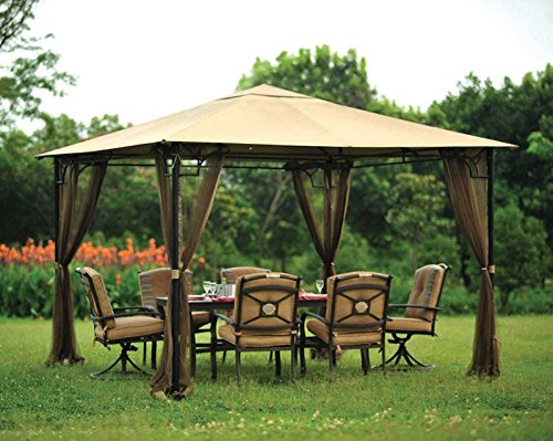 Living-Accents-10ft-x-10ft-Gazebo-Netting-gazebo-sold-separately-0