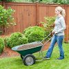 Marathon-Dual-Wheel-Residential-Yard-Rover-Wheelbarrow-Green-5-Cubic-Foot-Poly-Tray-0-0