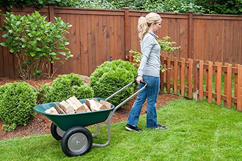 Marathon-Dual-Wheel-Residential-Yard-Rover-Wheelbarrow-Green-5-Cubic-Foot-Poly-Tray-0-1