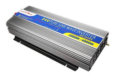 MicroSolar-24V-3000W-Peak-6000WPure-Sine-Wave-Inverter-with-Remote-Wire-Controller-and-2-Foot-Battery-Cable-0-0