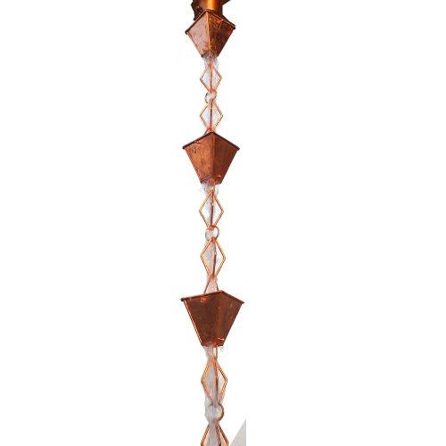Monarch-Rainchains-Pure-Copper-Heavy-Duty-Heirloom-Rain-Chain-8-12-Feet-0