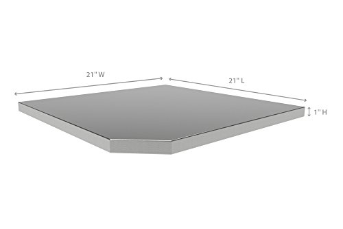 NewAge-Products-36173-Bold-30-Series-Corner-Stainless-Steel-Worktop-0-0