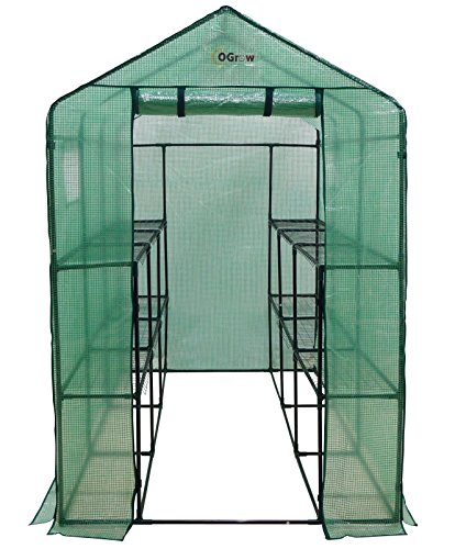 Ogrow-Extra-Large-Heavy-Duty-WALK-IN-2-Tier-12-Shelf-Portable-Lawn-and-Garden-Greenhouse-0