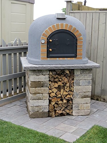 Outdoor-Pizza-Oven-Wood-Fired-Insulated-w-Brick-Arch-Chimney-0