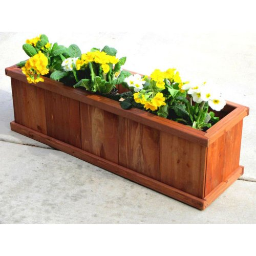 Outerior-Decor-Products-Robusto-Rectangular-Cedar-Planter-40-in-0
