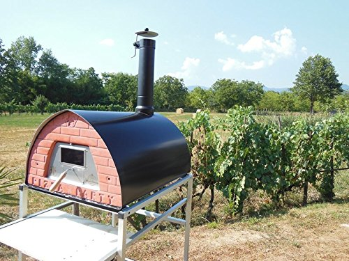Pizza-Party-big-wood-fired-pizza-oven-portable-Pizzone-door-with-glass-support-with-wheels-0-0