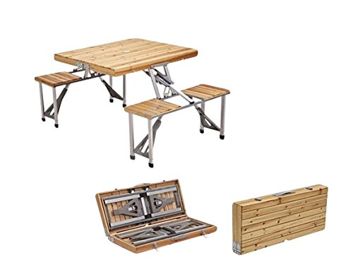 Plixio-Portable-Folding-Wood-Picnic-Table-with-4-Bench-Seats-0