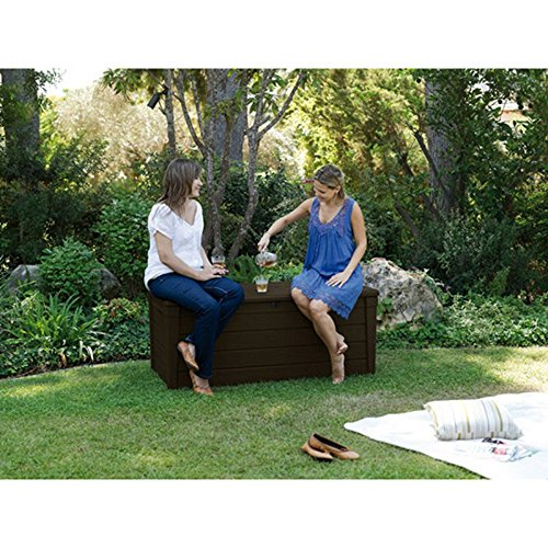 Pool-Deck-Storage-Box-and-Bench-is-2-in-1-Multifunctional-Patio-Seat-Resin-UV-Protected-120-Gallon-Pool-and-Yard-Container-for-Cushions-Table-Covers-Candles-Beach-Toys-0-0