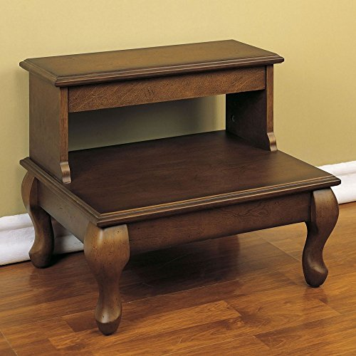 Powell-Attic-Cherry-Bed-Steps-with-Drawer-Antique-Cherry-0