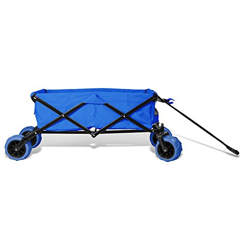 Premium-Quality-All-Terrain-Utility-Wagon-Collapsible-with-Extra-Wide-Heavy-Duty-Wheels-Folding-Outdoor-Indoor-150lbs-Assorted-Colors-0-0
