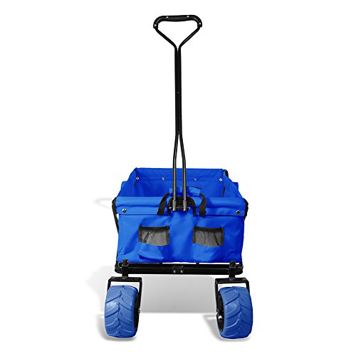 Premium-Quality-All-Terrain-Utility-Wagon-Collapsible-with-Extra-Wide-Heavy-Duty-Wheels-Folding-Outdoor-Indoor-150lbs-Assorted-Colors-0-1