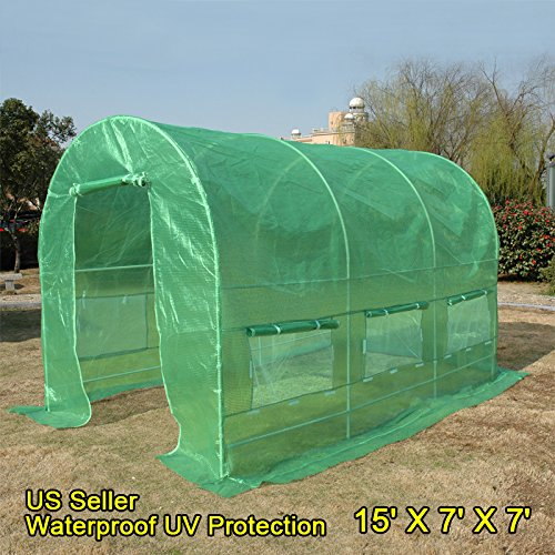 Quictent-KOREA-Reinforced-PE-Cover-Greenhouse-15x7x7-Arch-LARGE-Walk-in-Green-Garden-Hot-House-for-Plants-0