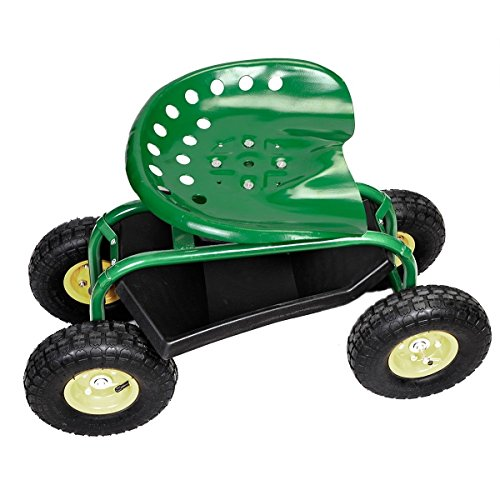 Rolling-Garden-Cart-Work-Seat-with-Heavy-Duty-Tool-Tray-Gardening-Planting-Green-0-1