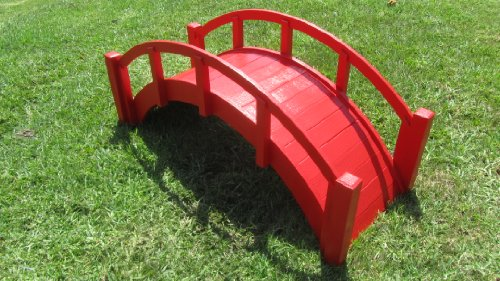 SamsGazebos-Miniature-Japanese-Wood-Garden-Bridge-29-Inch-Red-0-0