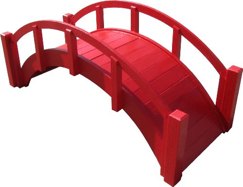 SamsGazebos-Miniature-Japanese-Wood-Garden-Bridge-29-Inch-Red-0