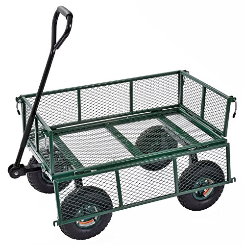 Sandusky-Lee-CW3418-Muscle-Carts-Steel-Utility-Garden-Wagon-400-lb-Load-Capacity-21-34-Height-x-34-Length-x-18-Width-0-1
