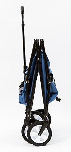 Seina-Collapsible-Folding-Utility-Wagon-Garden-Cart-Shopping-Beach-Outdoors-Blue-0-1