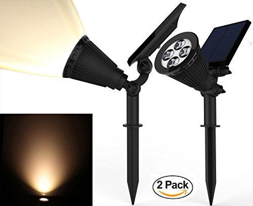 Solar-Spotlights-Kiwii-Warm-Light-2-in-1-Adjustable-4-LED-Wall-Landscape-Solar-Lights-with-Automatic-OnOff-Sensor-2-Pack-0