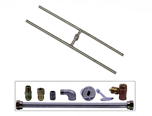 Spotix-Rectangle-HPC-Match-Lit-Fire-Pit-H-Burner-Kits-Propane-0-1