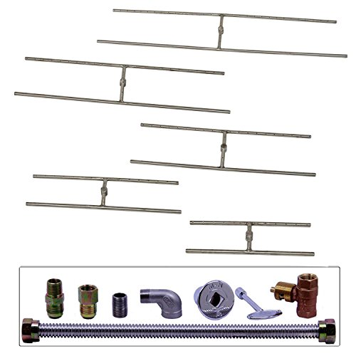 Spotix-Rectangle-HPC-Match-Lit-Fire-Pit-H-Burner-Kits-Propane-0