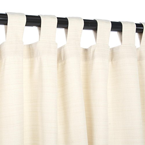 Sunbrella-Outdoor-Curtain-with-Tabs-Dupione-Pearl-0