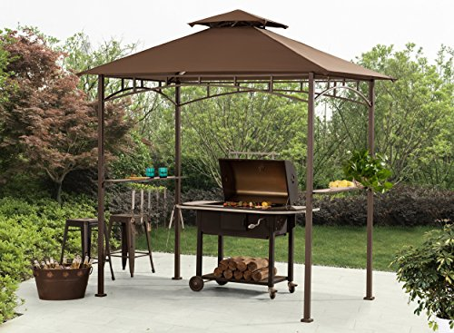Sunjoy-L-GG001PST-F-8-x-5-Soft-Top-Grill-Gazebo-with-4pcs-LED-0-0