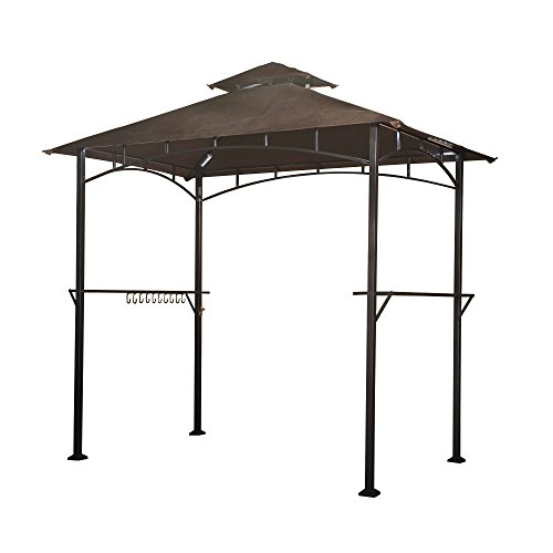 Sunjoy-L-GG001PST-F-8-x-5-Soft-Top-Grill-Gazebo-with-4pcs-LED-0
