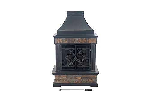 Sunjoy-L-OF117PST-A-354-x-236-x-566-Elson-Slate-and-Steel-Fireplace-Black-Bronze-Large-0-1