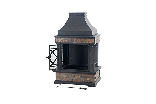 Sunjoy-L-OF117PST-A-354-x-236-x-566-Elson-Slate-and-Steel-Fireplace-Black-Bronze-Large-0