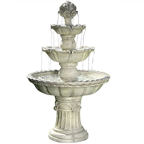 Sunnydaze-Four-Tier-White-Electric-Water-Fountain-with-Fruit-Top-52-Inch-Tall-0