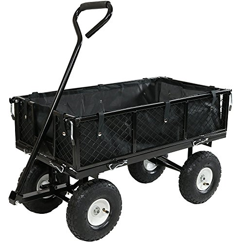 Sunnydaze-Utility-Cart-with-Folding-Sides-and-Liner-Set-Multiple-Colors-Available-0