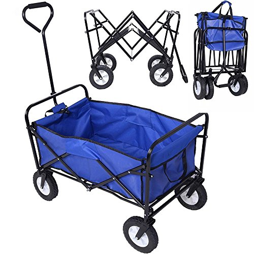 Topeakmart-Folding-Wagon-Utility-Garden-Cart-Beach-Shopping-Wagon-0-0