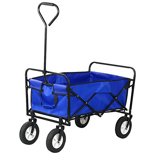 Topeakmart-Folding-Wagon-Utility-Garden-Cart-Beach-Shopping-Wagon-0-1