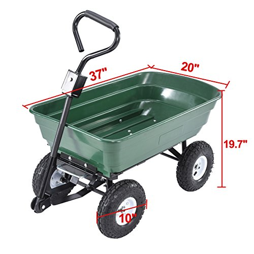 UenJoy-Heavy-Duty-660-lb-Garden-Dump-Cart-Dumper-Wagon-Carrier-Utility-Wheelbarrow-Air-Tires-0-1