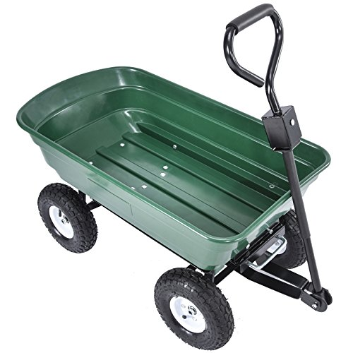 UenJoy-Heavy-Duty-660-lb-Garden-Dump-Cart-Dumper-Wagon-Carrier-Utility-Wheelbarrow-Air-Tires-0