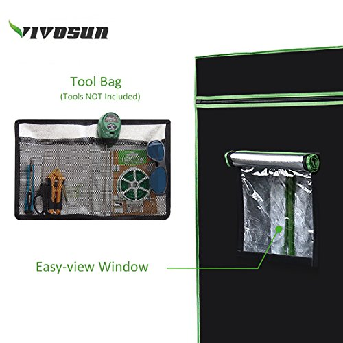 VIVOSUN-Horticulture-48x24x60-Mylar-Hydroponic-Grow-Tent-with-Obeservation-Window-and-Floor-Tray-for-Indoor-Plant-Growing-2×4-0-0