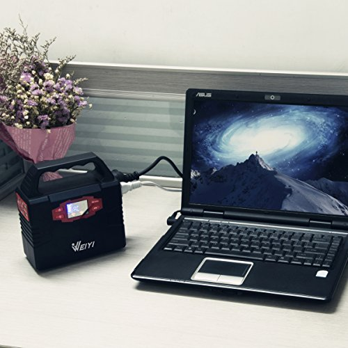 WEIYI-Portable-Power-Station-Power-Inverter-Generator-Gas-free-With-Outputs-AC-110V-Max-151Wh-2USB-35A-3DC-12V15A-Built-in-Battery-Capacity-40800mAhBlack-0-1