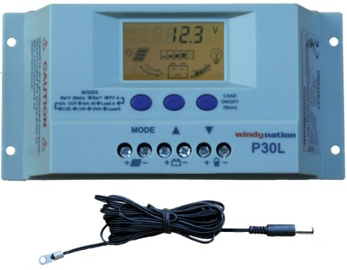 Windy-Nation-100-Watt-Solar-Panel-Complete-Off-Grid-RV-Boat-Kit-with-LCD-PWM-Charge-Controller-Solar-Cable-MC4-Connectors-Mounting-Brackets-0-1