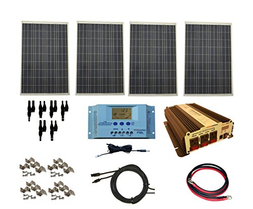 WindyNation-Complete-400-Watt-Solar-Panel-Kit-with-1500-Watt-VertaMax-Power-Inverter-RV-Boat-Off-Grid-12-Volt-Battery-0