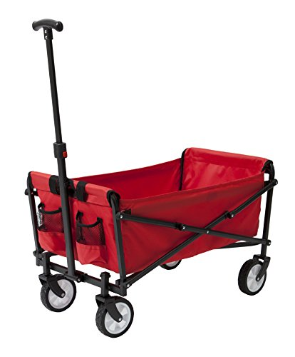 YSC-Wagon-Garden-Folding-Utility-Shopping-CartBeach-Red-0-0