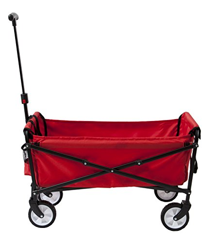 YSC-Wagon-Garden-Folding-Utility-Shopping-CartBeach-Red-0-1