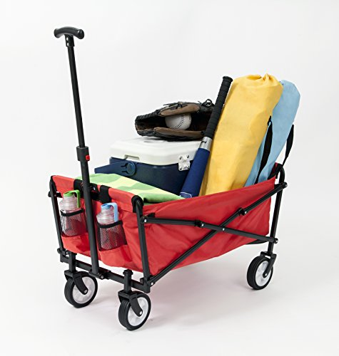 YSC-Wagon-Garden-Folding-Utility-Shopping-CartBeach-Red-0