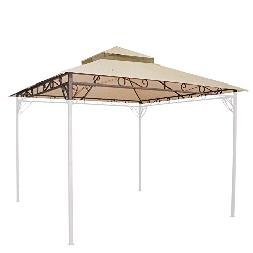 Yescom-108×108-Outdoor-Waterproof-Gazebo-Canopy-Top-Replacement-2-tier-Cover-for-10×10-Frame-0