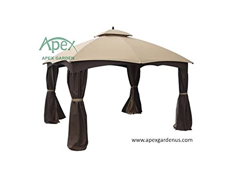 allen-roth-Gazebo-Beige-Replacement-Canopy-Top-Model-GF-12S004BTO-0-1