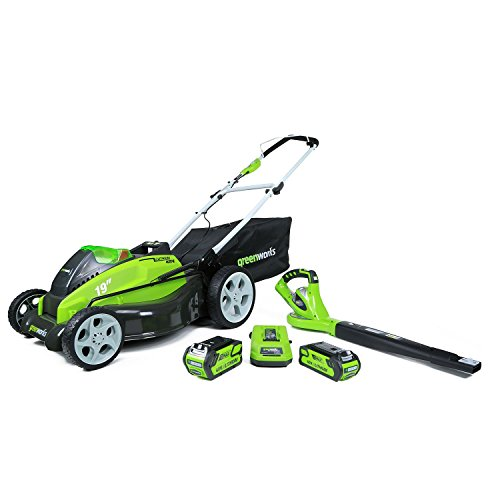 GreenWorks-1300302-G-MAX-40V-19-Lawn-Mower-and-Blower-Combo-Lawn-Kit-0
